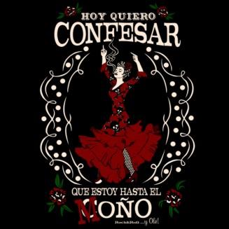 Diseño Flamenca hasta el moño - Manojito de Claveles