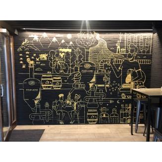 Mural entrada bar