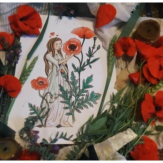 Ilustración original de la carta : Manzanilla