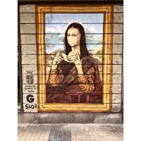 Mural Mona  lisa reinterpretación