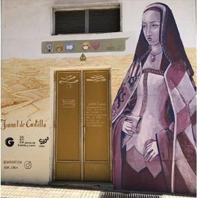 Mural retrato de Juana I de  Castilla