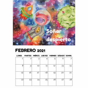 Calendario de pared Opción A