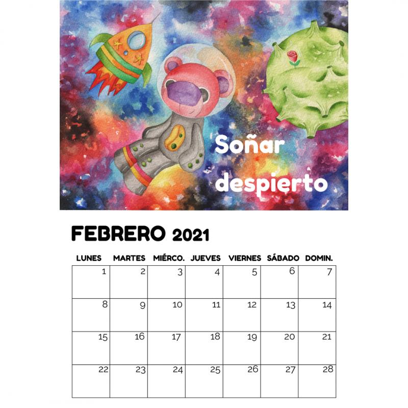 Calendario de pared Opción A