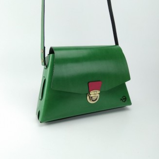 Bolso trapezoidal verde