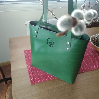 Bolso tote verde personalizado