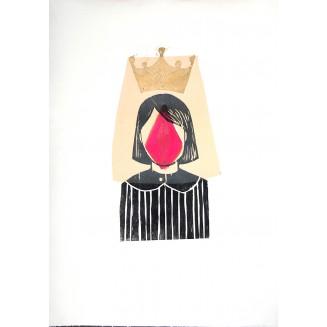 La obediencia. Xilografía. Dimensiones: 50 x 70 cm. Soporte Papel. Tinta Offset. Edición: 1/1